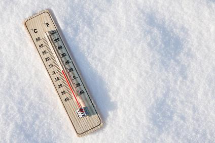 temperaturschnee